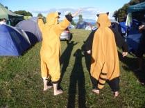 """""""The Fox vs. Red Panda dance off at Splore 2012"""""""