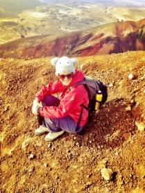 Sitting on top of Mt Tongarairo