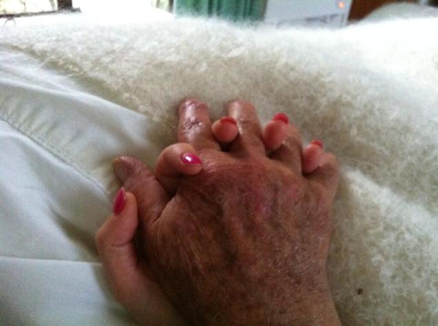 Holding my Dad's hand
